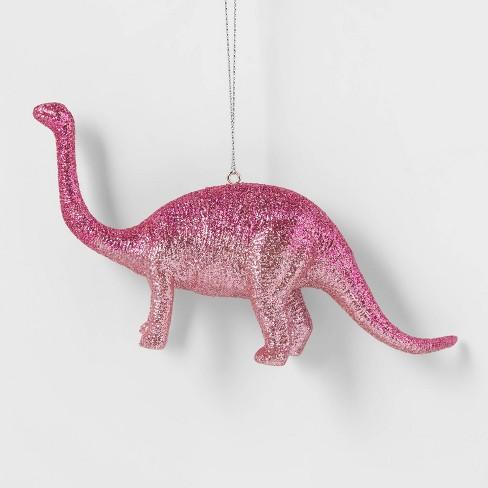 Glitter Brontosaurus Dinosaur Christmas Tree Ornament Pink - Wondershop™ - image 1 of 3
