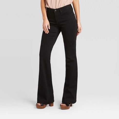 Women's High-Rise Flare Jeans - Universal Thread™ Black - image 1 of 4