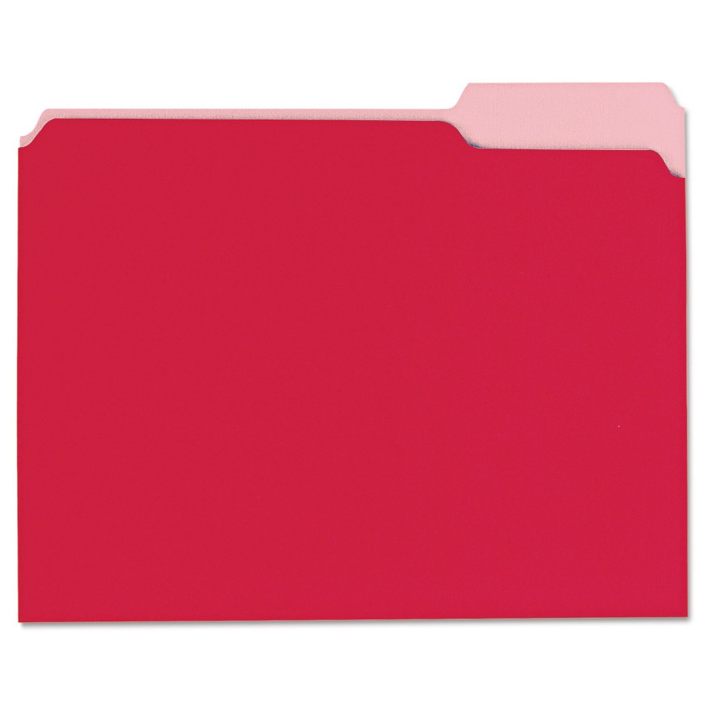 File Folders Red Universal Office