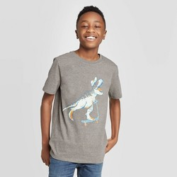 Boys' Short Sleeve Dinosaur Graphic T-Shirt - Cat & Jack™ Gray