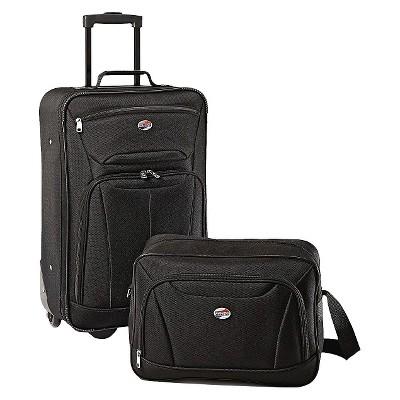 American Tourister Fieldbrook II 2pc Luggage Set - Black