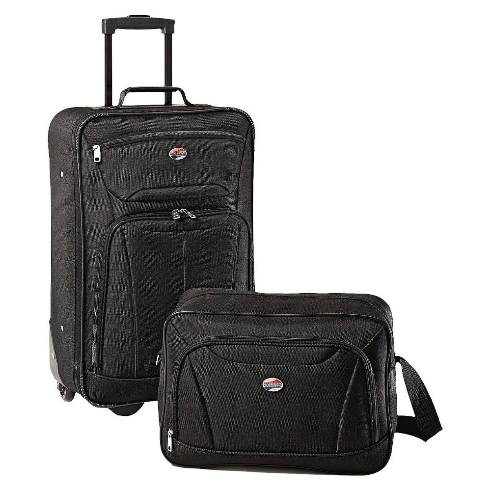Image of American Tourister Fieldbrook II 2pc Luggage Set - Black, Size: Small