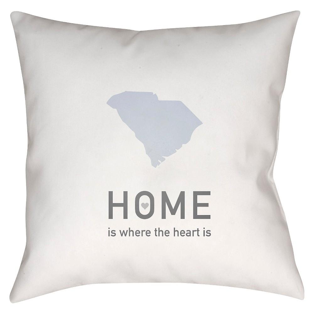 White Homebound South Carolina Throw Pillow 18