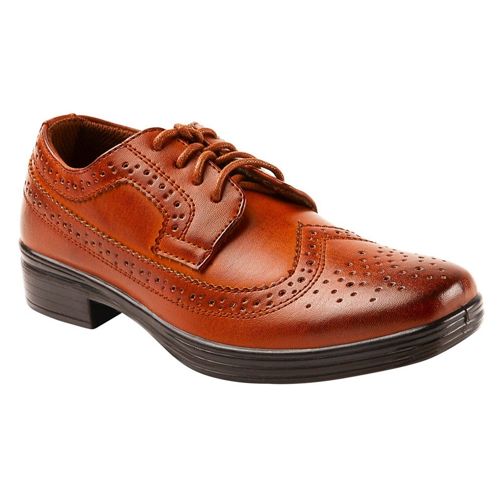 Image of Boys' Deer Stags Ace Oxford Oxfords - Chestnut 1.5, Boy's, Brown