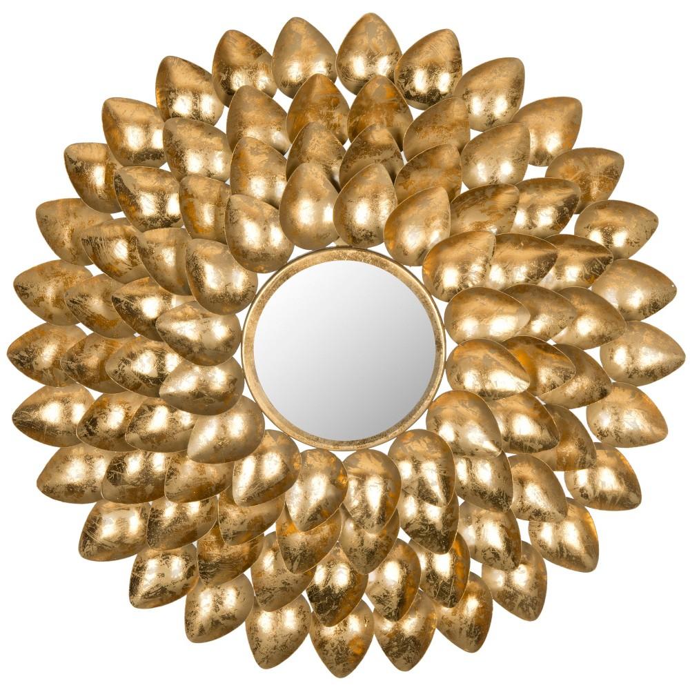 Sunburst Woodland Decorative Wall Mirror Gold - Safavieh Discounts