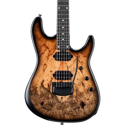 Ernie Ball Music Man Jason Richardson 6 String Electric Guitar with Black Hardware Buckeye Burl