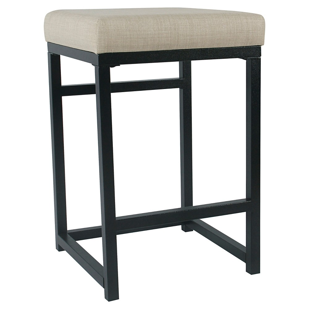 Open Back Metal Counter Stool Natural - HomePop was $84.99 now $63.74 (25.0% off)