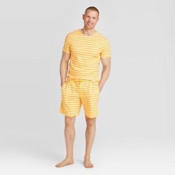 Men's Striped Pajama Set - Yellow