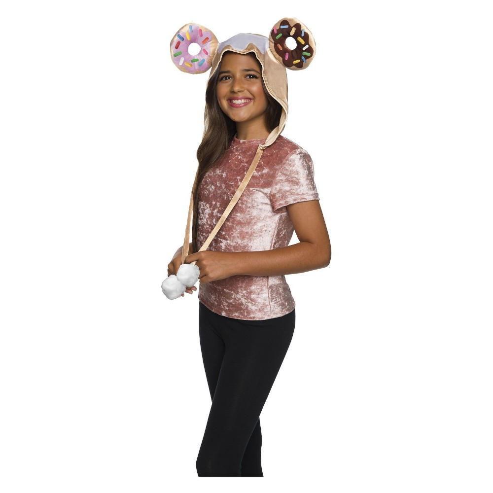 Girls' Tokidoki Donutella Costume Hood, Multi-Colored