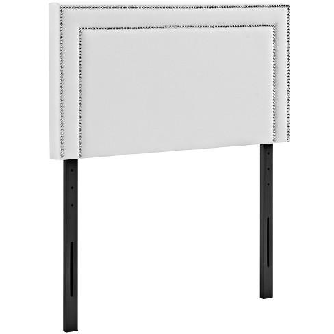 Jessamine Twin Upholstered Vinyl Headboard White Modway
