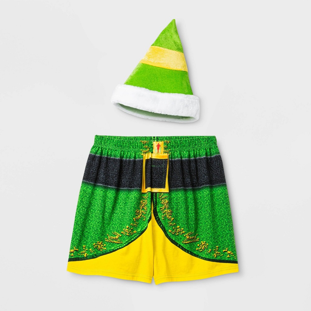 Image of Men's Buddy The Elf Boxer Shorts - Green L, Size: Large