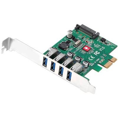 SIIG DP USB 3.0 4-Port PCIe Host Card - PCI Express 2.0 x1 - External - 4 USB Port(s) - 4 USB 3.0 Port(s) - UASP Support - PC