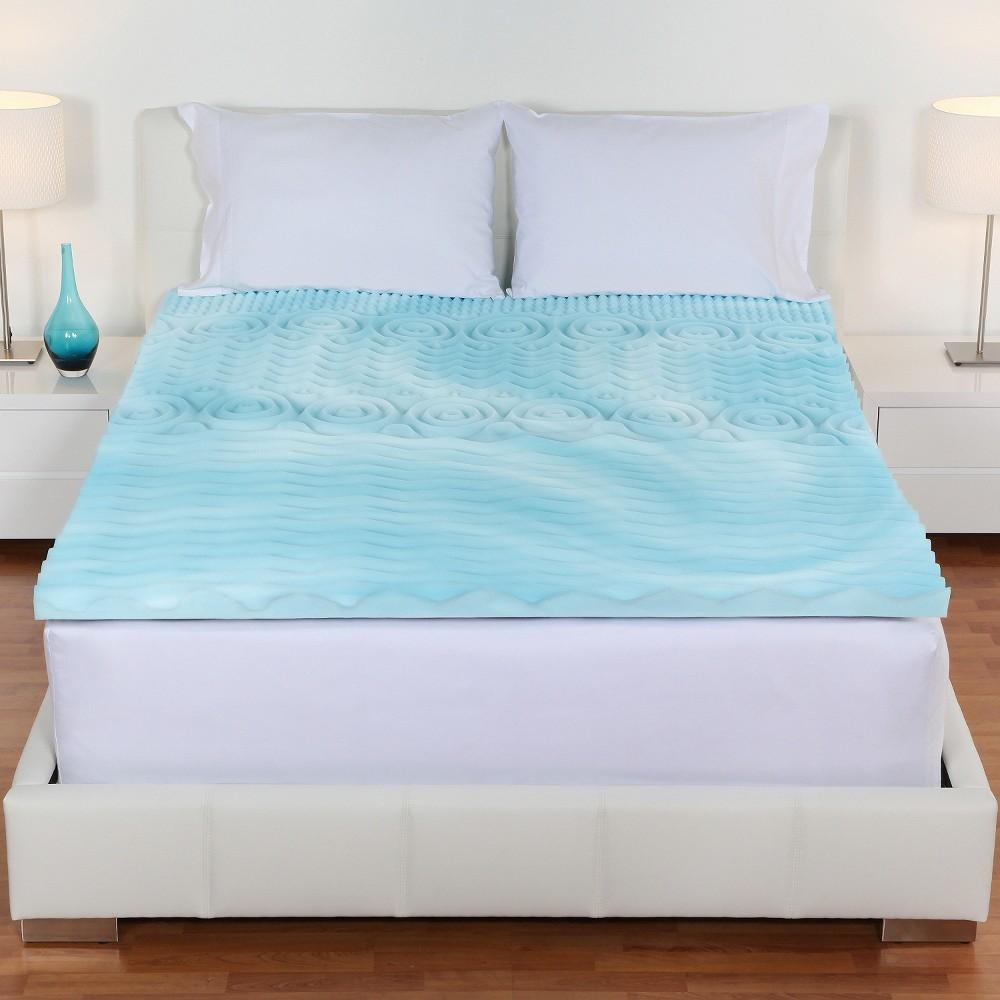 "Image of 2"" Orthopedic 5-Zone Foam Mattress Topper (Full) Blue - Authentic Comfort"