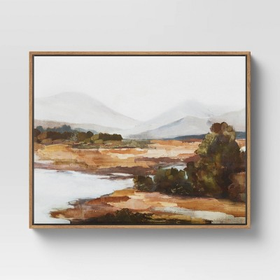 """20"""" x 16"""" Mountains Framed Wall Canvas - Threshold™"""