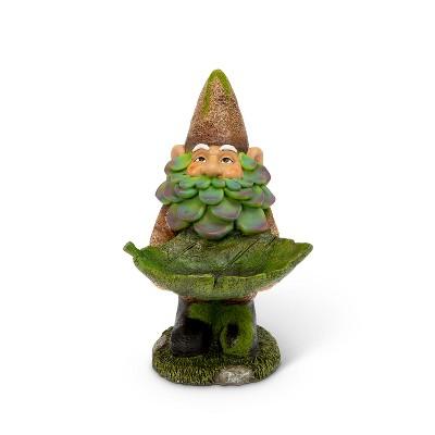 """GIL 13.4""""H Resin Garden Gnome Bird Feeder"""