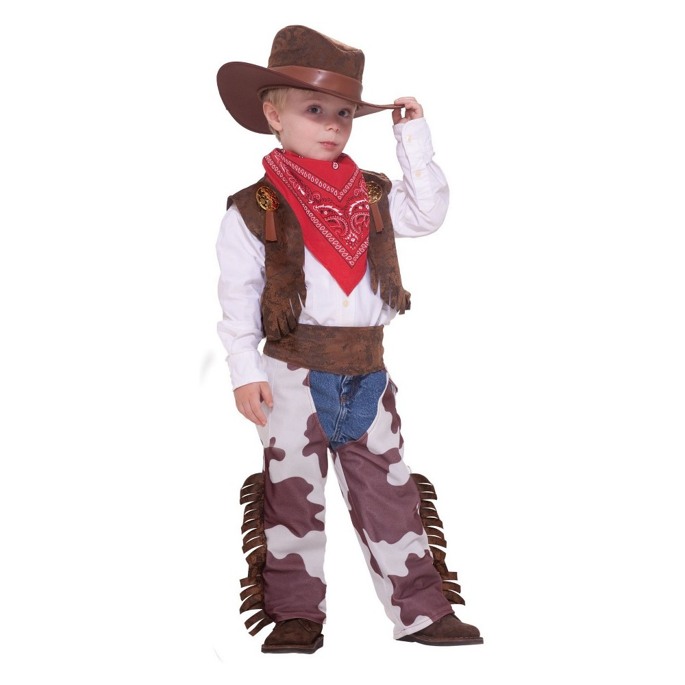 Toddler Kids' Cowboy Halloween Costume 3T-4T, Toddler Boy's, Multi-Colored