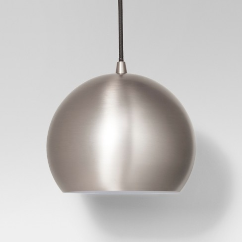 Modern Globe Pendant Ceiling Light Silver Lamp Only - Project 62 ...