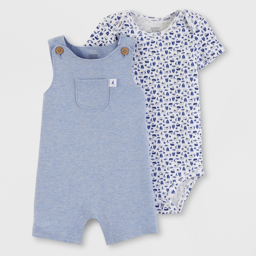 28198d1d5 Baby Boys 2pc Top and Bottom Set Just One You made by carters Blue 3M