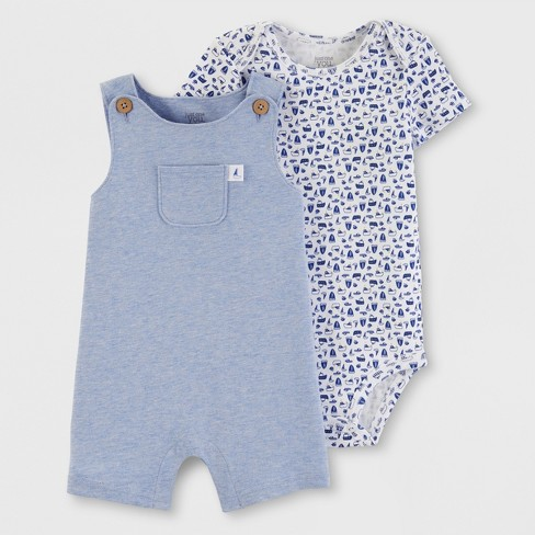 Baby Boys' 2pc Top and Bottom Set - Just One You® made by carter's Blue - image 1 of 3