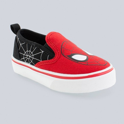 Toddler Boys' Marvel Spider-Man Dual Gore Slip-On Sneakers - Red - image 1 of 3