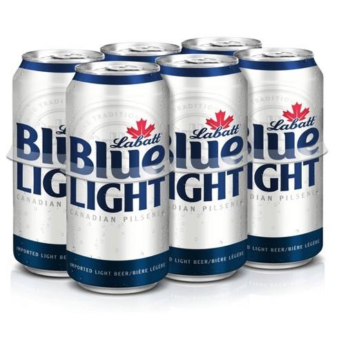 Labatt Blue Light Canadian Pilsener Beer - 6pk/16 fl oz Cans - image 1 of 2