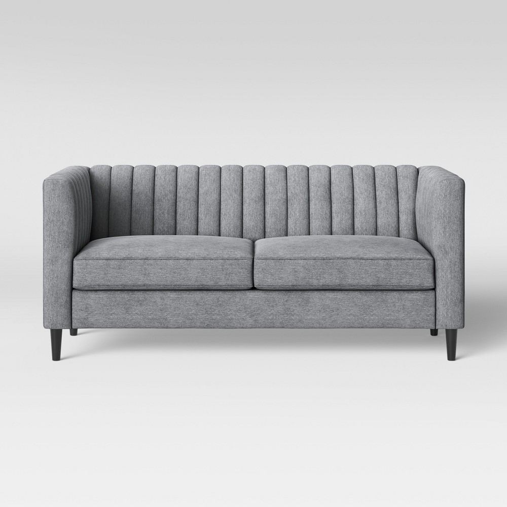 71 Calais Sofa with Channel Tufting Light Gray - Project 62