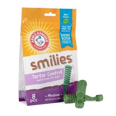 Arm & Hammer Smilies Dental Dog Treats - 8ct