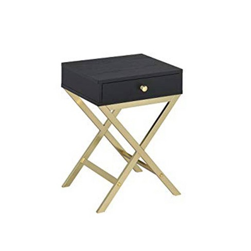 Side Table Black/Gold - Benzara - image 1 of 3