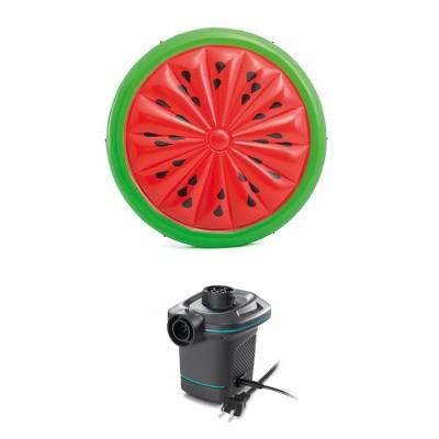 Intex  72-Inch Watermelon Island Raft | Intex 120V Quick Fill AC Air Pump
