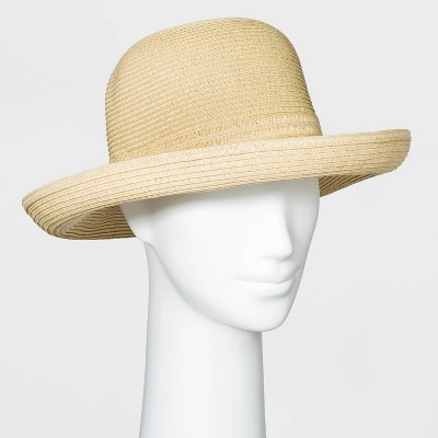 Women's Packable Essential Straw Kettle Hat - A New Day™ One Size Natural