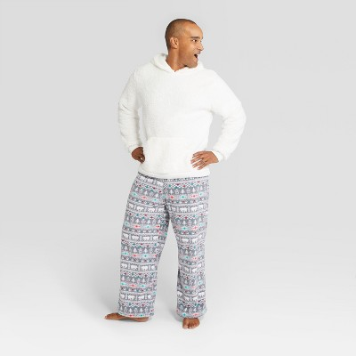 Men's Holiday Fuzzy Bear Fair Isle Pajama Set - Wondershop™ White XL