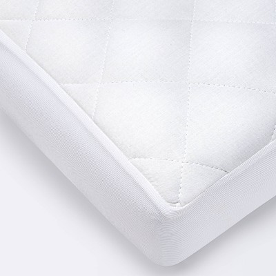 Waterproof Fitted Crib and Toddler Mattress Pad Cover - Cloud Island™ White