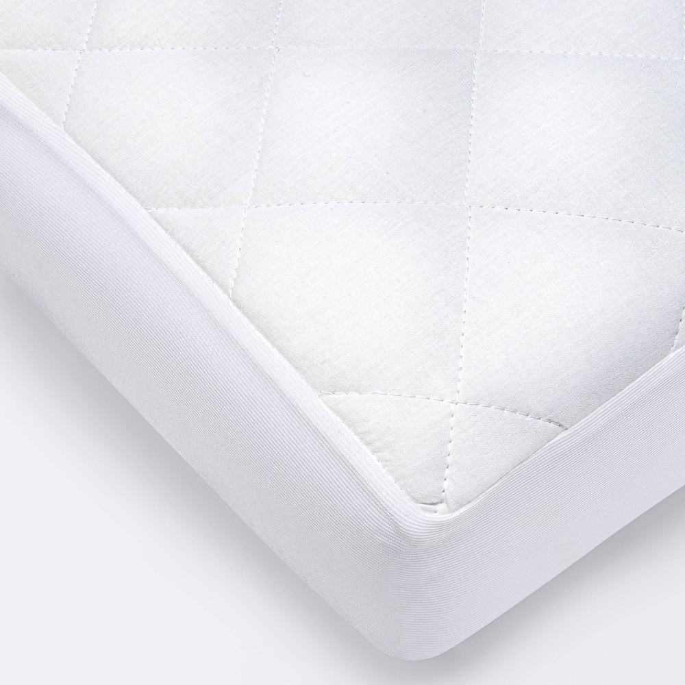 Waterproof Fitted Crib And Toddler Mattress Pad Cover Cloud Island 8482 White
