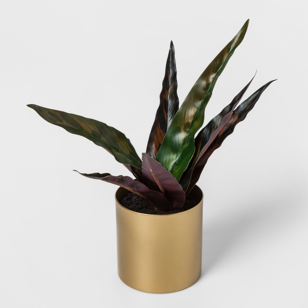 Faux Snake Plant in Gold Pot - Project 62, Green