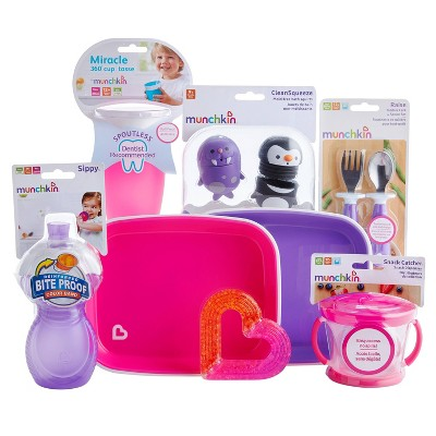 Munchkin 1st Birthday Baby Gift Basket - Pink