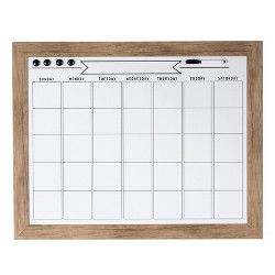 "20"" x 26"" Beatrice Dry Erase Calendar Rustic Brown - DesignOvation"