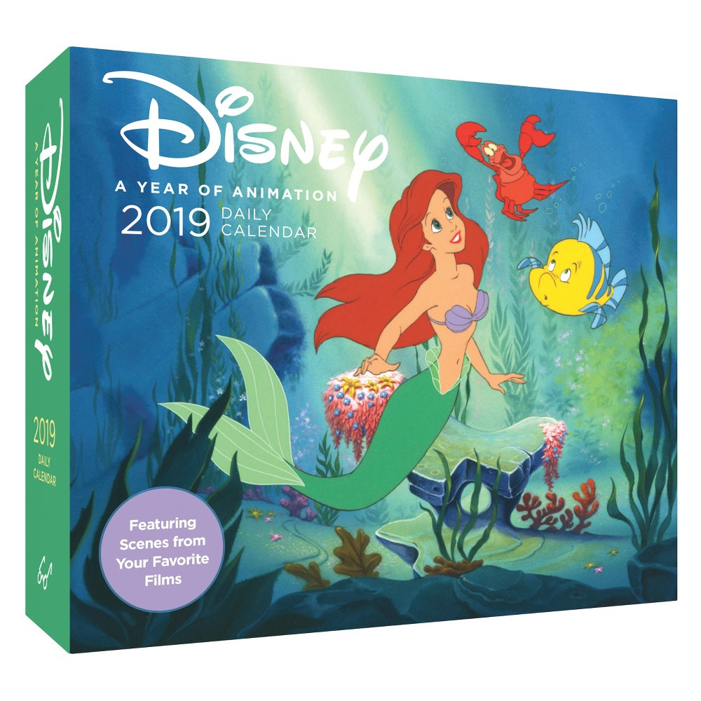 Disney 2019 Daily Calendar : A Year of Animation - (Paperback), Multi-Colored