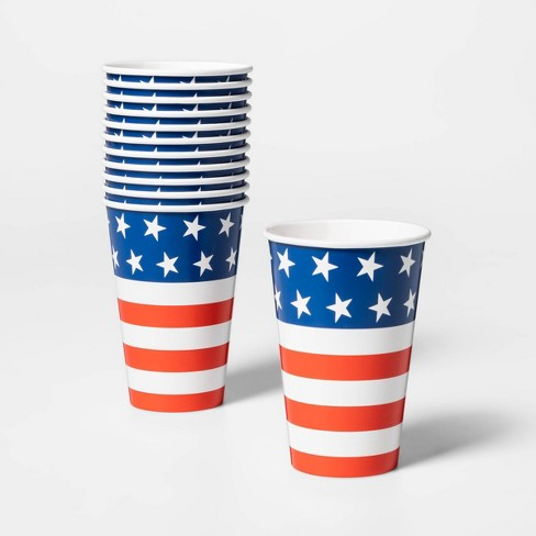 12ct 4th of July Stars and Stripes Cups - Sun Squad™ - image 1 of 1