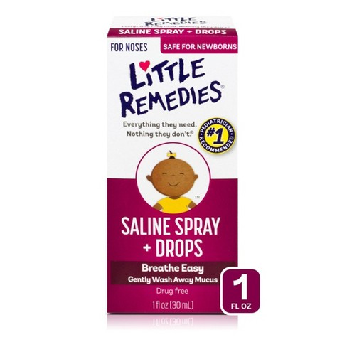 Little Remedies Saline Spray and Drops, Safe for Newborns - 1 fl oz - image 1 of 3