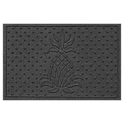 Charcoal Solid Pressed Doormat - (2'X3')- Bungalow Flooring