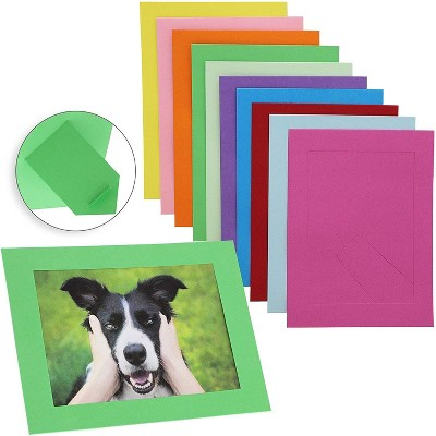 30-Pack Cardboard Photo Picture Frame Easel Holds 5x7 Photos, 10 Assorted Colors