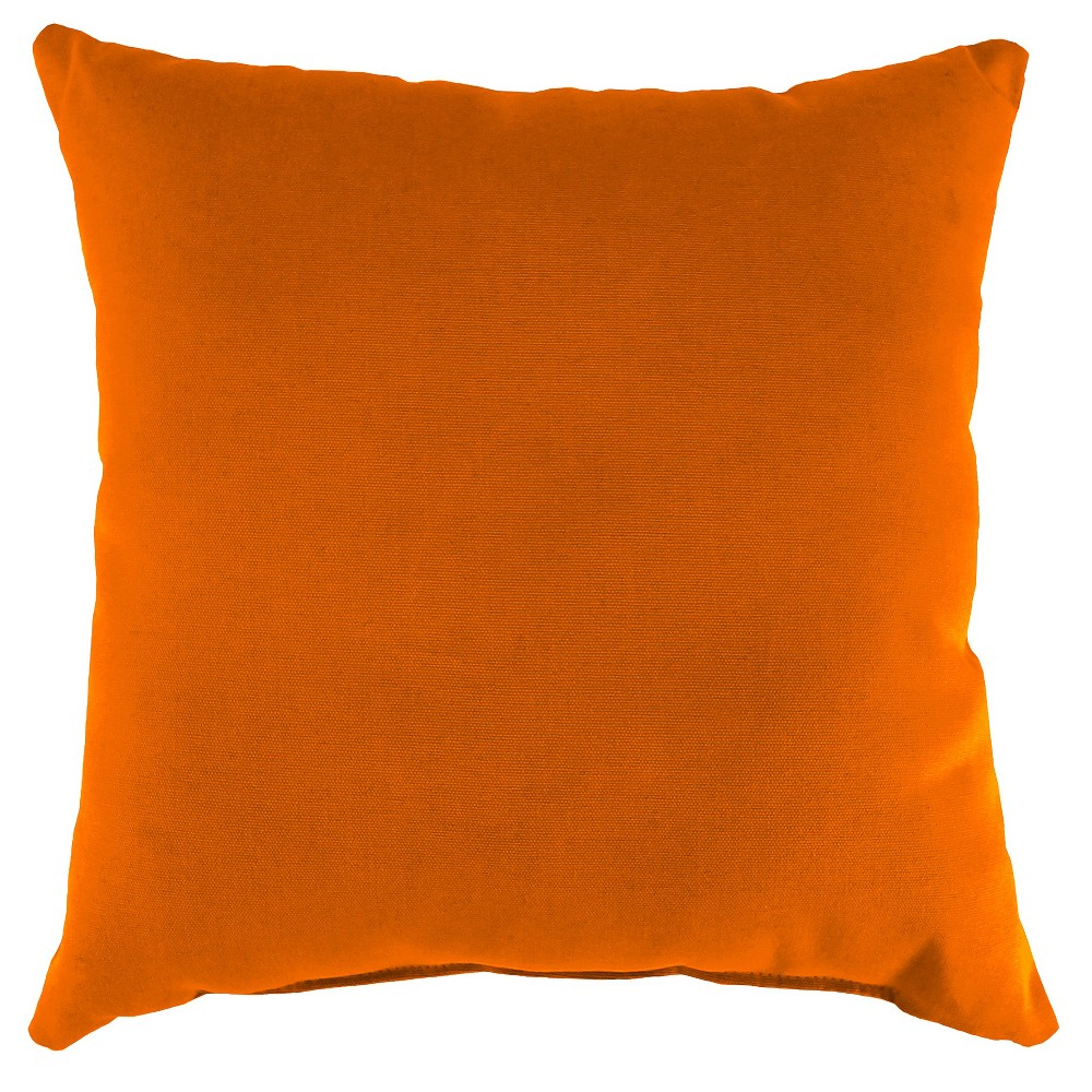 Jordan Set of Square Toss Pillows - Tangerine Orange