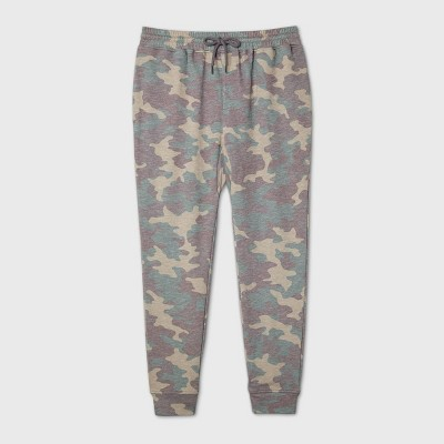 "Men's Camo Print 29"" Mid-Rise Jogger Pants - Original Use™ Green"