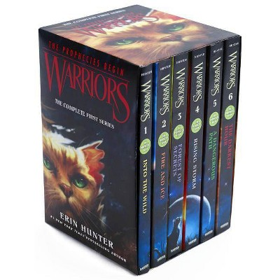 Warriors Box Set: Volumes 1 to 6 - (Warriors: The Prophecies Begin) by  Erin Hunter (Paperback)