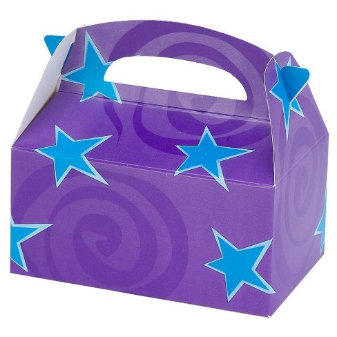 8 ct Purple with Blue Stars Favor Boxes - image 1 of 1