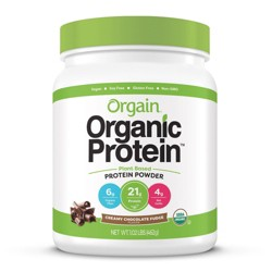 Orgain Organic Vegan Plant Based Protein Powder - Creamy Chocolate Fudge - 16.32oz