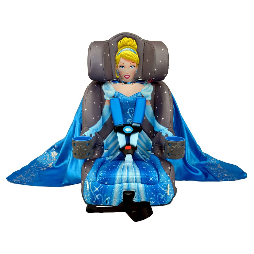 Image of KidsEmbrace Disney Cinderella Platinum Combination Harness Booster Car Seat, Gray Blue