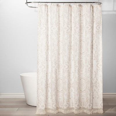 Exploded Floral Shower Curtain White - Threshold™