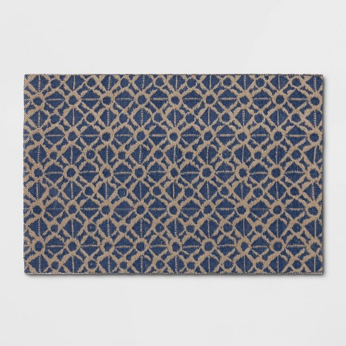 2'X3' Jacquard Woven Accent Rug Blue - Threshold™ - image 1 of 3