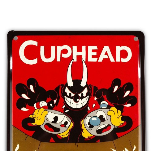 Just Funky Cuphead Collectibles | Cuphead Don't Deal With The Devil Tin Sign